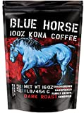 Farm-fresh: 100% Kona Coffee, Dark Roast, Whole Beans, 1 Lb, from Blue Horse Kona Coffee in Hawaii*