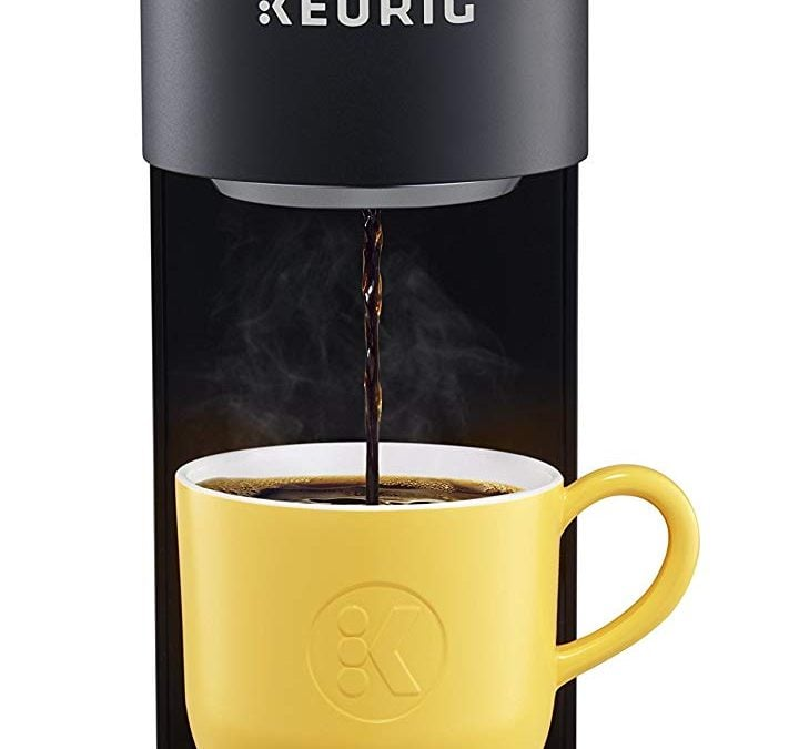 Keurig K-Mini Plus Single-Serve K-Cup Pod Coffee Maker, with 6 to 12oz Brew Size, Stores up to 9 K-Cup Pods, Travel Mug Friendly, Matte Black