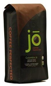 COLOMBIA JO: 12 oz, Organic Ground Colombian Coffee, Medium Roasted