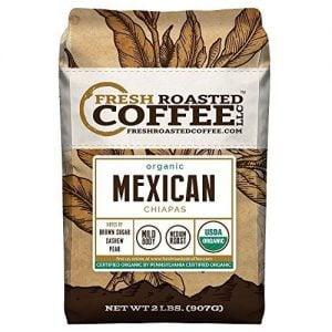 Mexican Chiapas Organic Coffee, Whole Bean, Fresh Roasted Coffee LLC