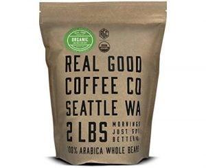 Real Good Coffee Co, Whole Bean Coffee, USDA Certified Organic Dark Roast