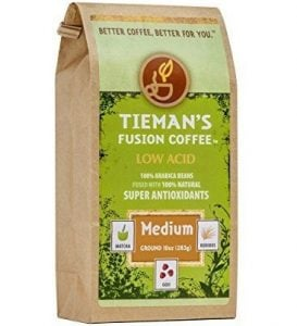 Medium Roast, Low acid Tieman's Fusion Coffee