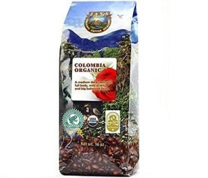 Organic Colombia low acid Java planet Coffee Beans