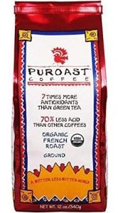 Organic French Roast, Puroast Low acid Coffee