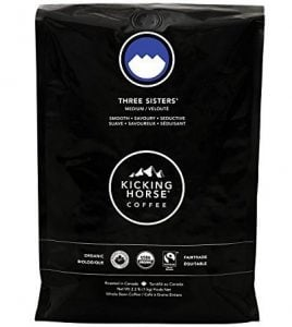 Kicking Horse Coffee, Three Sisters, Medium Roast, Whole Bean