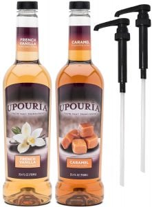 Upouria French Vanilla & Caramel Flavored Syrup